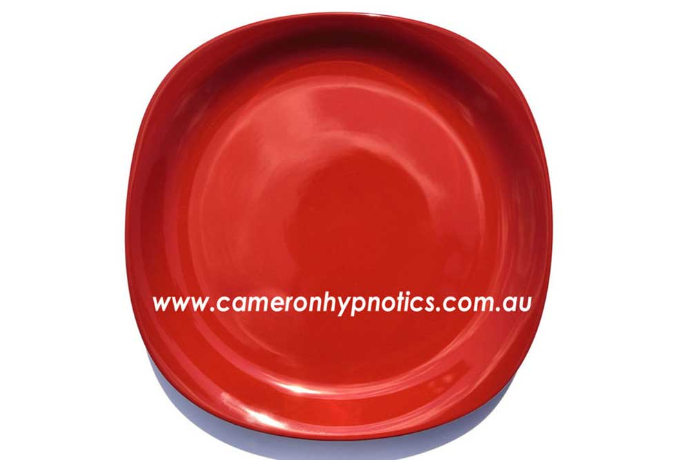 Cameron Hypnotics, Newcastle Hypnotherapy, Lose weight, eat from a red plate